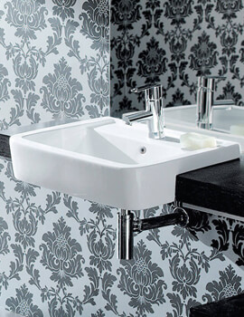 Silverdale Henley 550 x 460mm 1 Tap Hole Semi-Countertop Basin