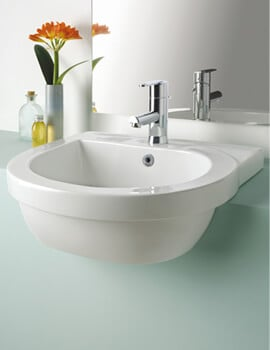 Silverdale Richmond 550 x 485mm Single Tap Hole Semi Countertop Basin