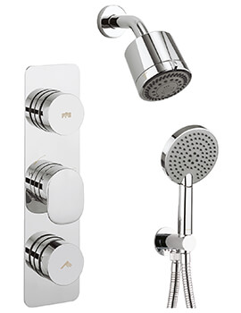 Crosswater Dial 2 Control Shower Valve With Pier Trim Shower Kit