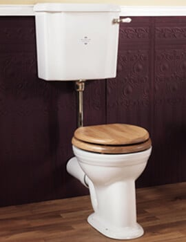 Silverdale Victorian 430 x 740mm White Low Level Pan And Cistern