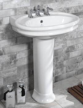 Silverdale Hillingdon 650 x 550mm White 1 Taphole Basin