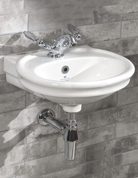Silverdale Hillingdon 450 x 390mm Single Taphole White Cloakroom Basin