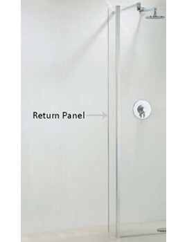 Phoenix Walk-In Shower Enclosure Return Panel 250mm x 1950mm