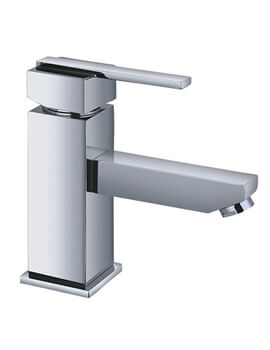 Mayfair Ice Quad Lever Mono Basin Mixer Tap Chrome With Click Waste