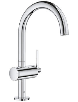 Grohe Atrio L Size Single Lever Basin Mixer Tap With Pop-Up Waste