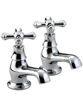 Bristan Colonial Chrome Pair Of Bath Taps