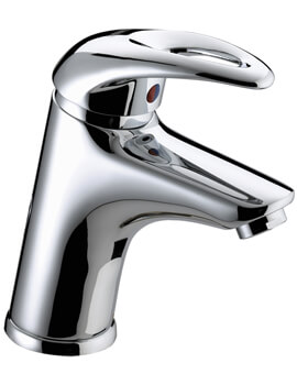 Bristan Java Basin Mixer Tap With Eco Click And Clicker Waste