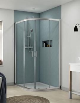Aqualux Origin Offset Quadrant Shower Enclosure