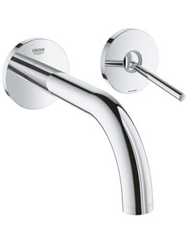 Grohe Atrio Two Hole Wall Mounted Basin Mixer Tap With Joystick