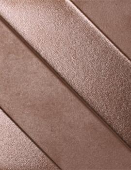 Dune Shapes 4 Transverse 4 Copper 14.7 x 14.7cm Ceramic Wall Tiles