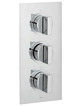 Vado Notion 2 Outlet Thermostatic Shower Valve With 3 Handle