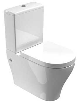 Saneux Prague 635mm Projection Rimless Close Coupled WC Pan With Cistern