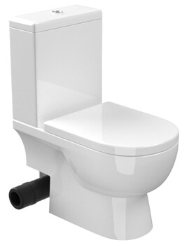 Saneux Austen 650mm Projection Close Coupled WC Pan With Cistern