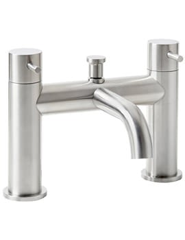 Frontline Aquaflow Edition Solito Brushed Steel Bath Filler Tap