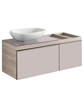 Geberit Citterio 1200 x 504mm Two Drawers Vanity Unit And Shelf Surface