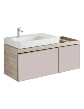 Geberit Citterio Two Drawer Vanity Unit And Shelf Surface