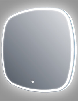 Frontline Opel 700mm Wide Aluminium Framed LED Mirror With Touch Sensor And Demister