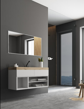 HIB Essence 120 Triple Door 1230 x 730mm Recessed Mirror Cabinet