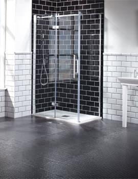 Frontline Aquaglass+ Elegance Hinged Shower Door With Inline Panel