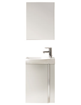 Frontline Elegance 445mm Wall Hung Cloakroom Unit And Mirror Set