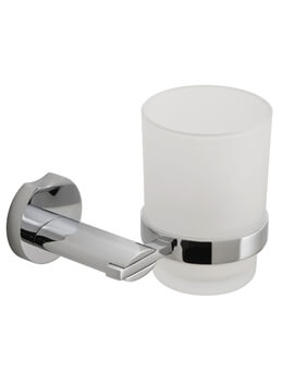 Vado Kovera Frosted Glass Tumbler And Holder