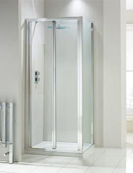 Frontline Aquaglass+ Drift 4mm Glass Bi-Fold Shower Door
