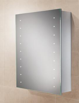 HIB Nimbus 50 LED Illuminated 500 x 700mm Aluminium Mirror Cabinet