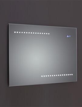 Frontline Quay 800 x 600mm Bevel Edged LED Mirror With Digital Clock