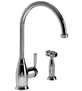 Abode Astbury Single Lever Kitchen Tap With Integrated Handspray