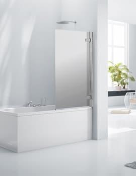 Frontline Aquaglass+ 8mm Frameless Mirrored Bath Screen 800mm