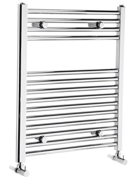 Frontline Flat 600mm Wide Heated Towel Rail Chrome