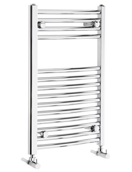 Frontline Curved 450mm Wide Heated Towel Rail Chrome