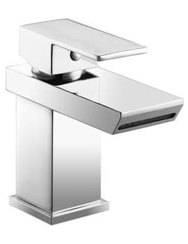 Frontline Aquaflow Misto Waterfall Basin Mixer Tap With Sprung Waste