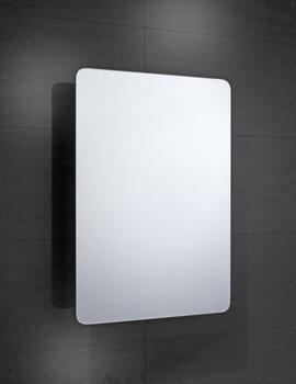 Frontline Bramham 460mm Wide Single Door Mirrored Cabinet