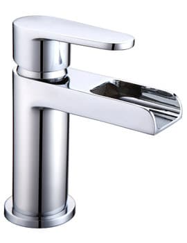Frontline Aquaflow Ballini Waterfall Basin Mixer Tap With Sprung Waste