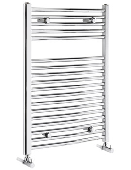 Frontline Curved 500mm Wide Heated Towel Rail Chrome