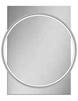 HiB Solas 50 LED-Illuminated Mirror With Chrome Frame - W 500 x H 700mm