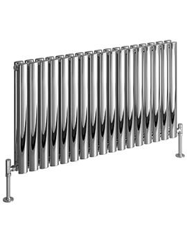 DQ Heating Cove 600mm High Stainless Steel Double Horizontal Radiator