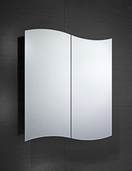Frontline Tide 600mm Wide Double Door Mirrored Cabinet