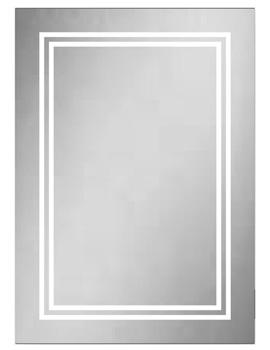 HIB Boundary 50 LED-Illuminated Rectangular Mirror - W 500 x H 700mm