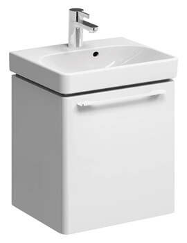 Geberit Smyle 450 x 378mm Single Door Vanity Unit With Handrinse Basin