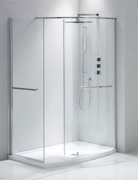 Frontline Aquaglass Plus 6mm 1350 x 900mm Closing Walk-In Enclosure