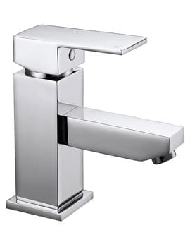 Frontline Aquaflow Cube Basin Mixer Tap With Sprung Waste