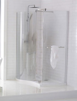 Frontline Aquaglass Purity Curved 1350 x 900mm Walk-In Enclosure