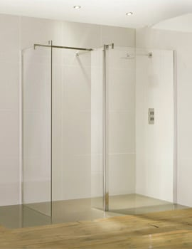 Frontline Aquaglass Purity 6mm Straight Walk-In Front Panel