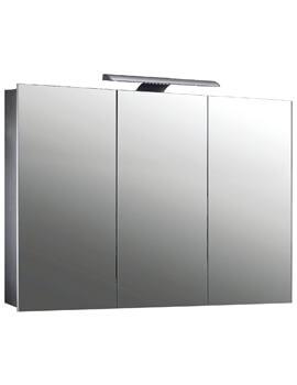 Frontline Howden 1000mm Wide Triple Door Mirrored LED Cabinet