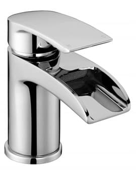 Frontline Flo Waterfall Basin Mixer Tap With Sprung Waste