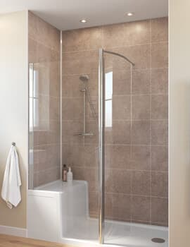 Lakes Classic Walk-in Shower Enclosure With Seated Shower Tray 1500 x 800mm