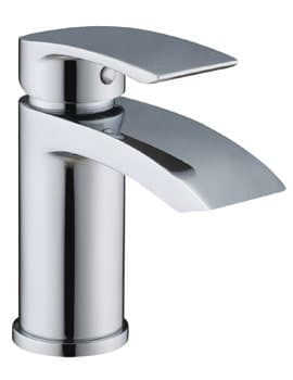Frontline Pure Waterfall Basin Mixer Tap With Sprung Waste