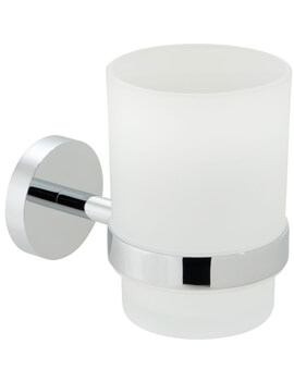 Vado Spa Frosted Glass Tumbler And Chrome Holder
